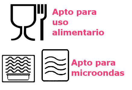 Logo de las fiambreras de plástico permitidas para transportar y calentar alimentos.