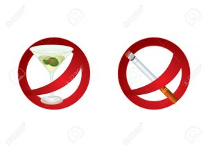 10610878-Two-signs-which-represent-forbidden-alcohol-drinking-and-smoking-Stock-Vector
